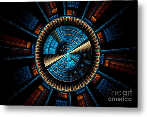 Fractal Metal Print featuring the digital art Fractal City by Sven Fauth