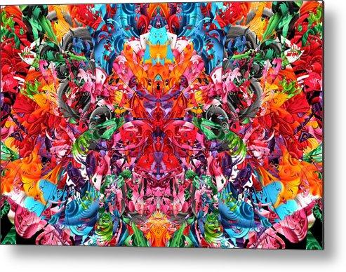 Abstract Metal Print featuring the digital art Frisbee Salt 2 Big by Zac AlleyWalker Lowing