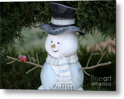 Frosty Metal Print featuring the photograph Frosty by Living Color Photography Lorraine Lynch