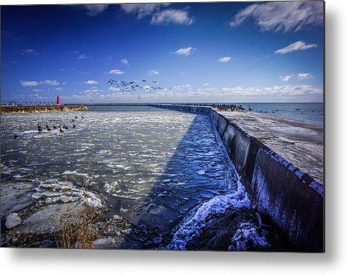 Seascape Metal Print featuring the photograph Frozen Passage 1 by Michael Horst