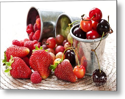Fruits Metal Print featuring the photograph Fruits And Berries by Elena Elisseeva