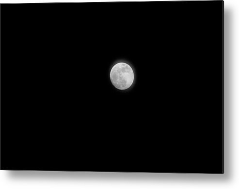 Moon Photographs Metal Print featuring the photograph Full Moon I by Terrence Downing