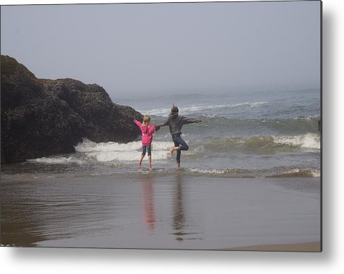 Beach Metal Print featuring the photograph Fun On The Beach by Janis Knight