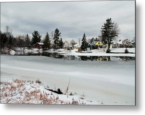 River Metal Print featuring the photograph Gananoque River In Winter 4 by Jim Vance