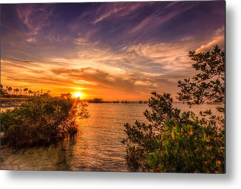 Oceanside Metal Print featuring the photograph Gandy Sunset by Marvin Spates
