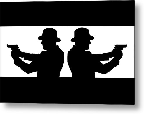 Gangster Metal Print featuring the photograph Gangster Silhouette by Richard ONeil