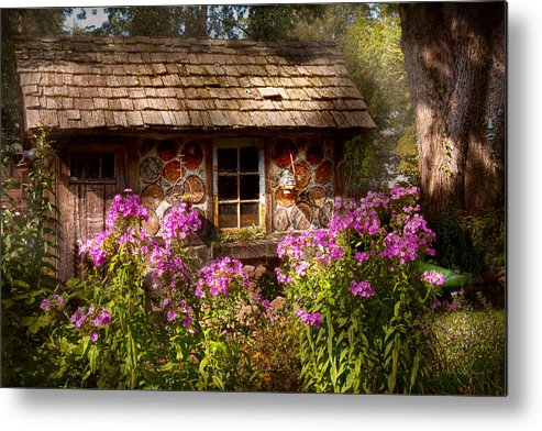 Building Metal Print featuring the photograph Garden - Belvidere Nj - My Little Cottage by Mike Savad