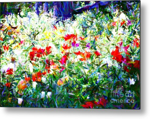 Garden Metal Print featuring the photograph Garden Impressionism by Elaine Manley