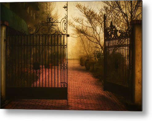 Fine Art Metal Print featuring the photograph Gate At The Abby by Rick Luiten