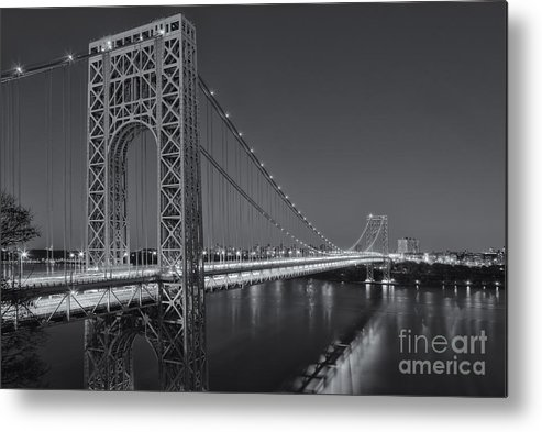 Clarence Holmes Metal Print featuring the photograph George Washington Bridge Twilight II by Clarence Holmes