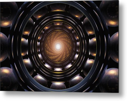 Abstract Metal Print featuring the digital art Ghost In The Machine by John Robichaud
