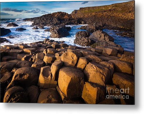 Europe Metal Print featuring the photograph Giant's Causeway Surf by Inge Johnsson