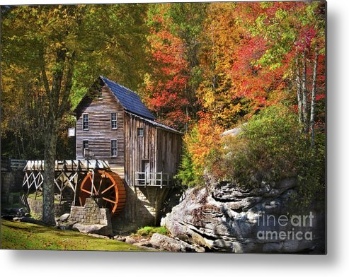 Mill Metal Print featuring the photograph Glade Creek Mill by T Lowry Wilson