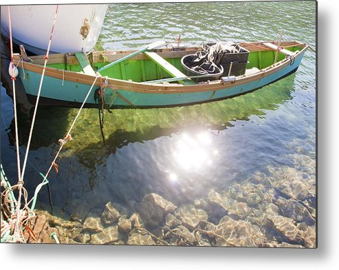 Water Metal Print featuring the photograph Gleam Shadow by Renato Sensibile