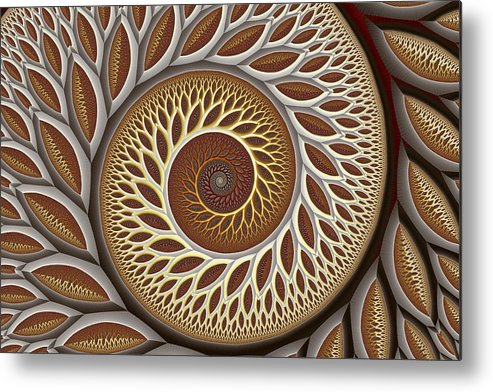 Abstract Metal Print featuring the digital art Glynn Spiral No. 2 by Mark Eggleston
