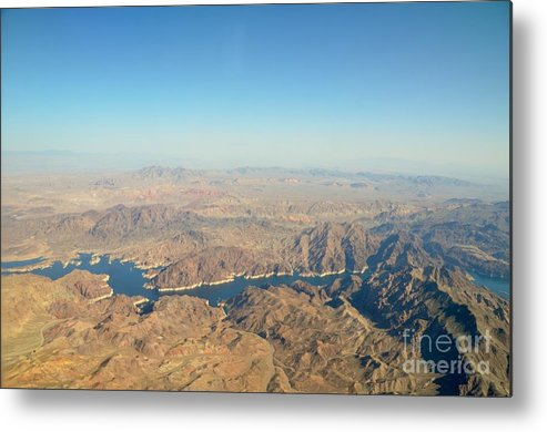 Aerial View Metal Print featuring the photograph Go West Young Man by Jennie Stewart