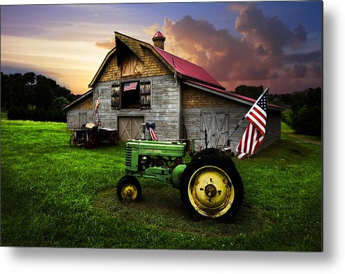 American Metal Print featuring the photograph God Bless America by Debra and Dave Vanderlaan