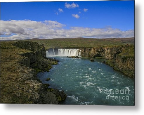Beautiful Metal Print featuring the photograph Godafoss Waterfall by Patricia Hofmeester