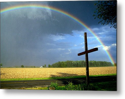 Rainbow Metal Print featuring the photograph God's Promise by Randy Shellenbarger