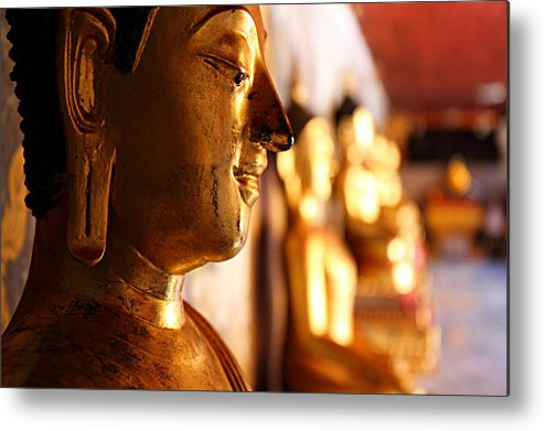 Metro Metal Print featuring the photograph Gold Buddha At Wat Phrathat Doi Suthep by Metro DC Photography