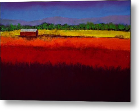 Golden Field Metal Print featuring the painting Golden Field by David Patterson