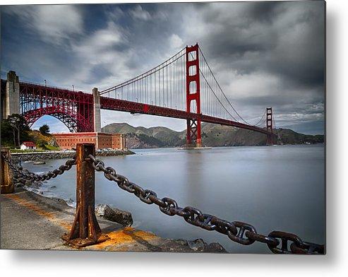 California Metal Print featuring the photograph Golden Gate Bridge by Eduard Moldoveanu
