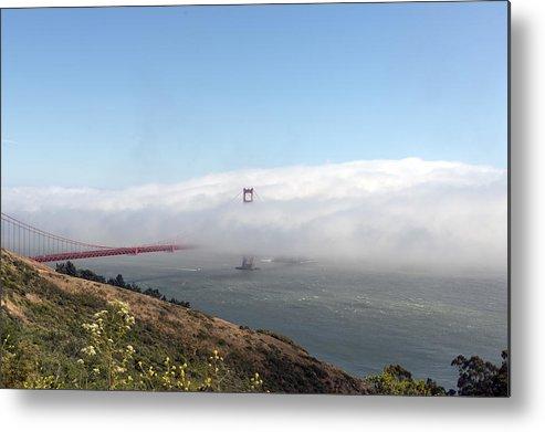 San Metal Print featuring the photograph Golden Gate Bridge Emerging From The Fog by Carol M Highsmith