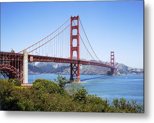 Golden Gate Metal Print featuring the photograph Golden Gate Bridge by Kelley King