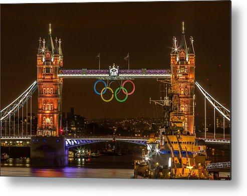 2012 Metal Print featuring the photograph Golden Tower Bridge by Paul Parkinson
