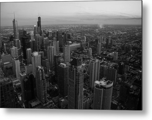 Chicago Architecture Metal Print featuring the photograph Goodnight Sky by Polina Goncharova