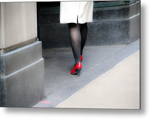 Shoes Metal Print featuring the photograph Gotta Love Those Shoes by Debbie Orlando
