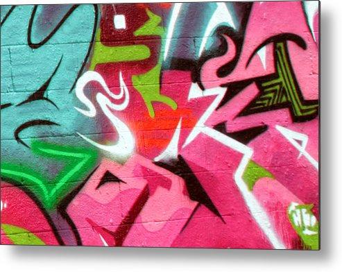 Graffiti Metal Print featuring the photograph Graffiti 21 by Tera Bunney