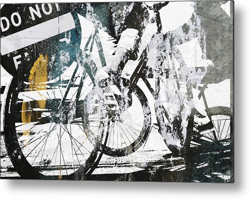 Bikes Metal Print featuring the photograph Graffiti Bikes by Kyle Morris