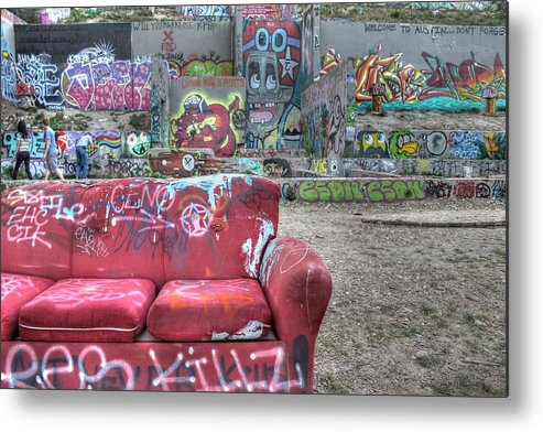 Grafitti Metal Print featuring the photograph Grafitti Couch by Jane Linders