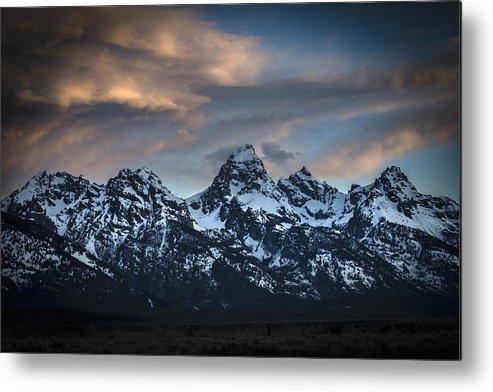 Teton Range Metal Print featuring the photograph Grand Teton National Park by RiverNorth Photography