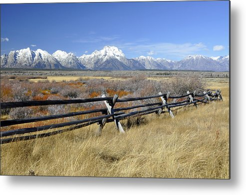 Grand Tetons' Tetons Metal Print featuring the photograph Grand Teton Nat'l Park by Wendy Elliott