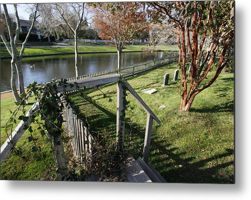 Twin Pond Metal Print featuring the photograph Graveyard East Hampton New York by Bob Savage