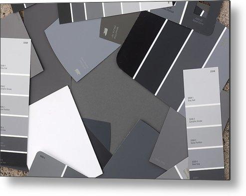 Gray Card Checker Metal Print featuring the photograph Gray Card Checker O Meter by Rich Franco