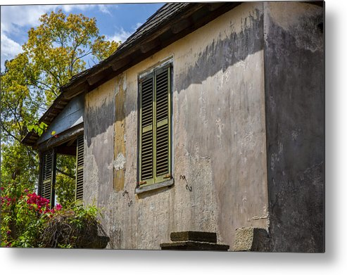 St. Augustine Metal Print featuring the photograph Green Shutters Stucco Walls St Augustine by Rich Franco