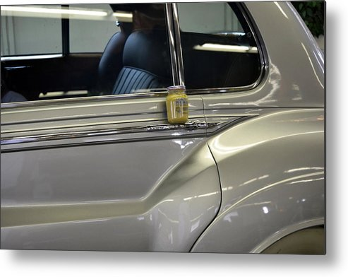 Rolls Royce Metal Print featuring the photograph Grey Poupon And Rolls Royce by Kathy Barney