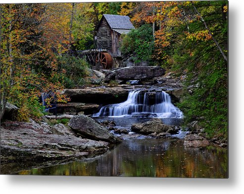 Trees Metal Print featuring the photograph Grist Mill Falls by Lone Dakota Photography