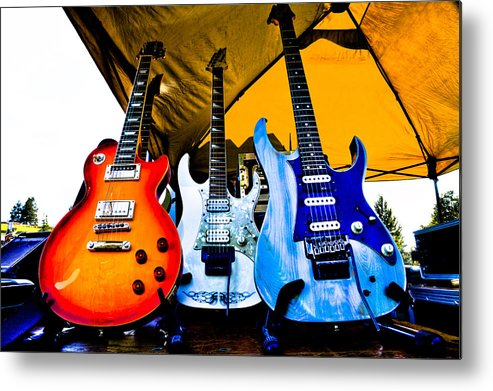 The Kingpins Metal Print featuring the photograph Guitar Trio by David Patterson