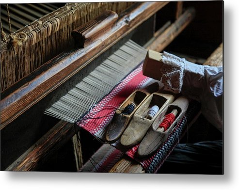 Handicraft Metal Print featuring the photograph Hand Loom by Photostock-israel