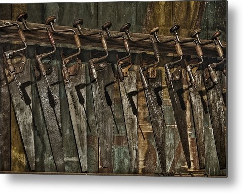 Handy Man Tools Metal Print featuring the photograph Handy Man Tools by Susan Candelario