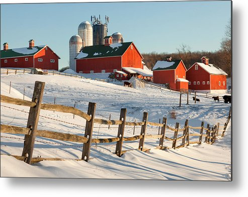 Barnyard Metal Print featuring the photograph Happy Acres Farm by Bill Wakeley