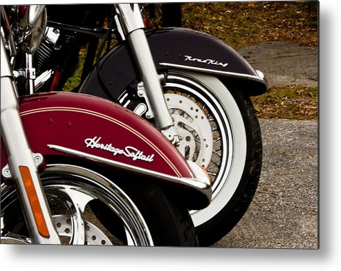Transportation Metal Print featuring the photograph Harley Davidson Heritage Softail And Road King by Dennis Coates