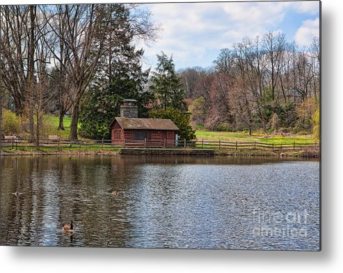 Haverford Metal Print featuring the photograph Haverford Skating Cabin by Kay Pickens