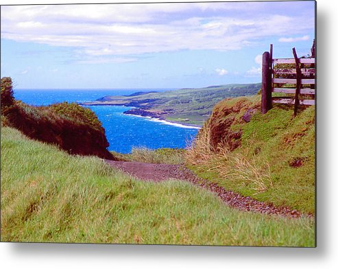 Ocean Metal Print featuring the photograph Hawaiian Hilltop by Dena Baker
