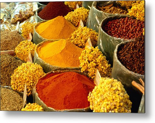 Turkish Metal Print featuring the photograph Herbs And Spices by Francesca Yorke