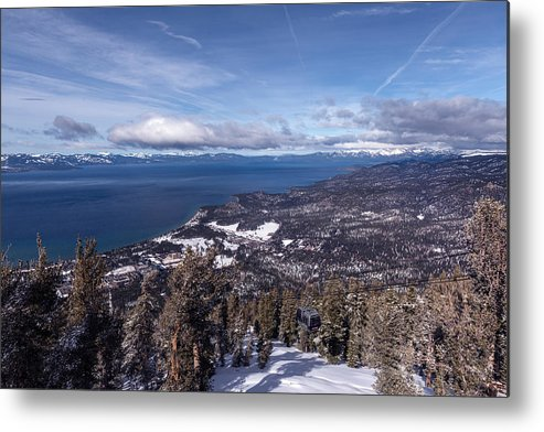Heavenly Metal Print featuring the photograph Hevenly Ski Resort In South Lake Tahoe by Carol M Highsmith